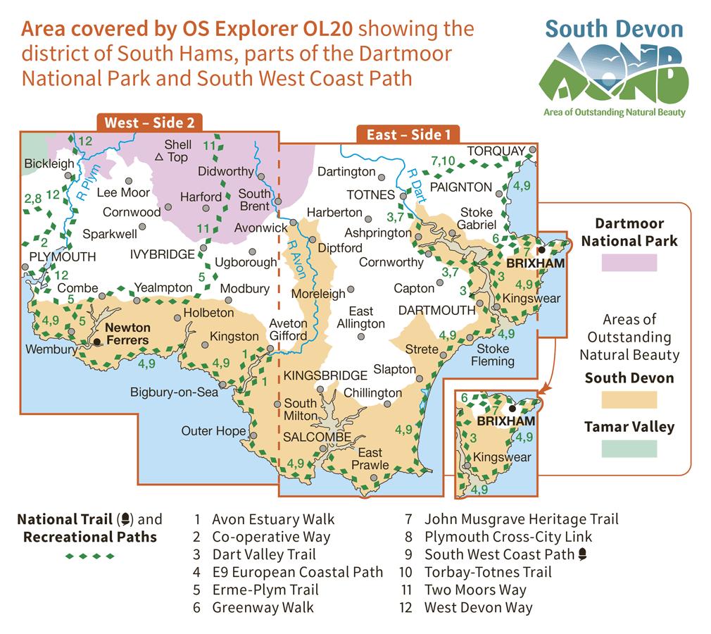 Ordnance Survey Explorer - OL 20 - South Devon
