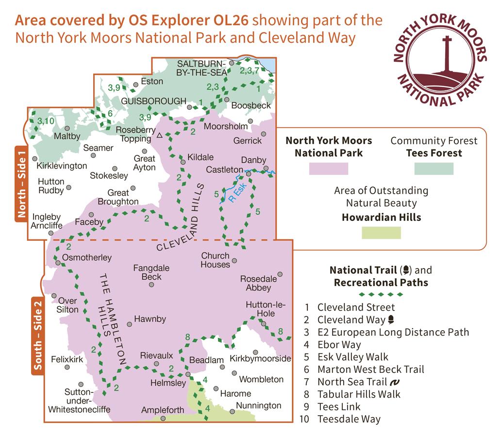 Ordnance Survey Explorer - OL 26 - North York Moors W