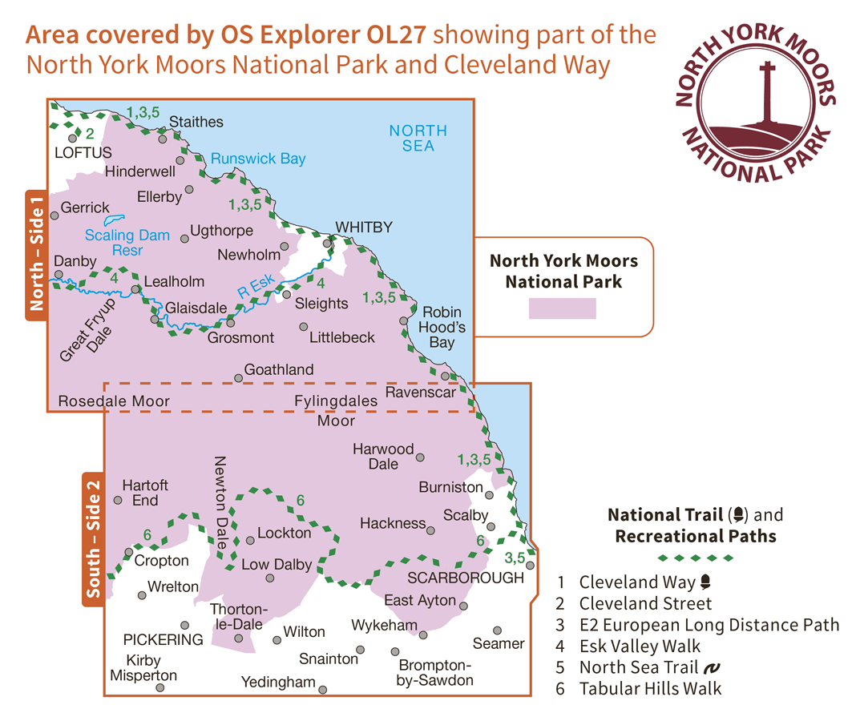 Ordnance Survey Explorer - OL 27 - North York Moors E