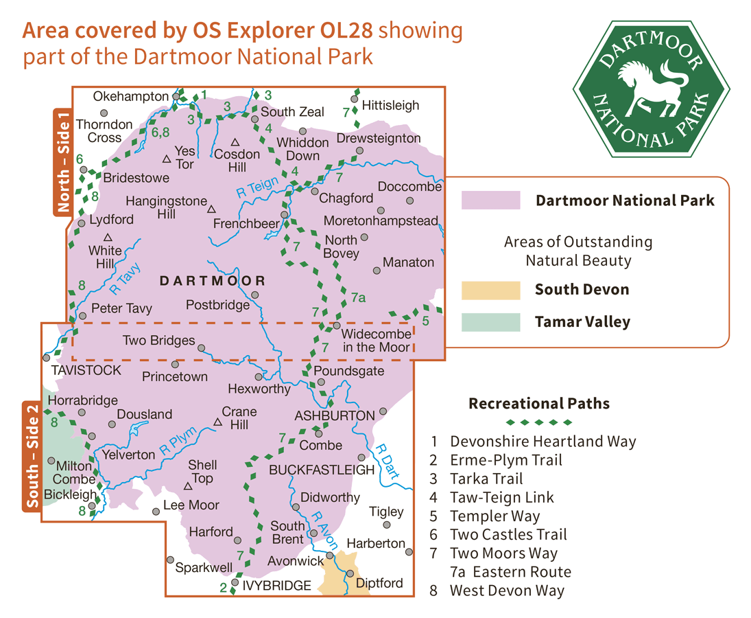 Ordnance Survey Explorer - OL 28 - Dartmoor