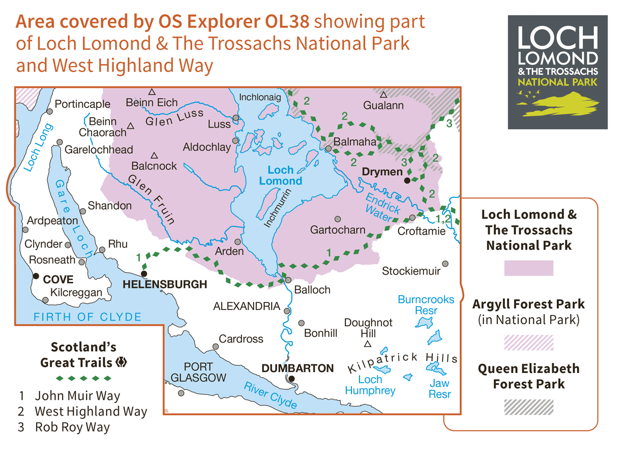 Ordnance Survey Explorer - OL 38 - Loch Lomond South