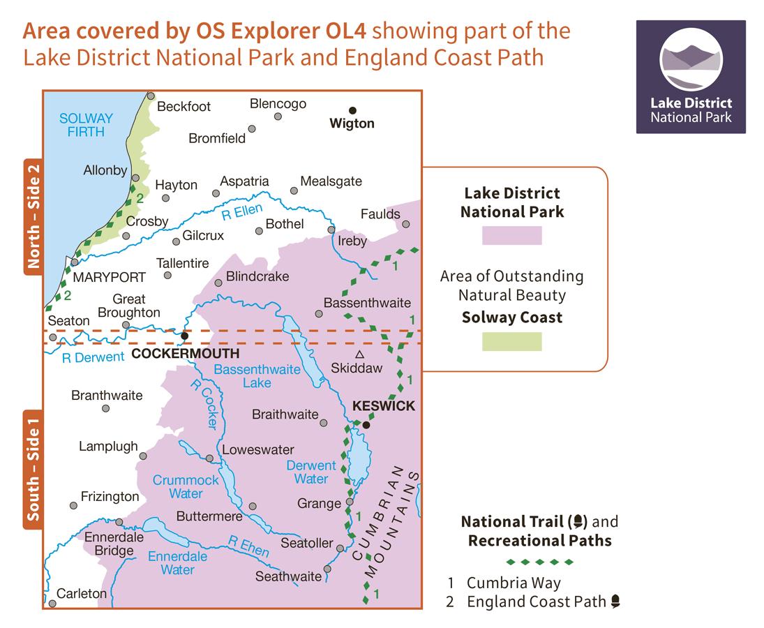 Ordnance Survey Explorer Active - OL 4 - English Lakes NW