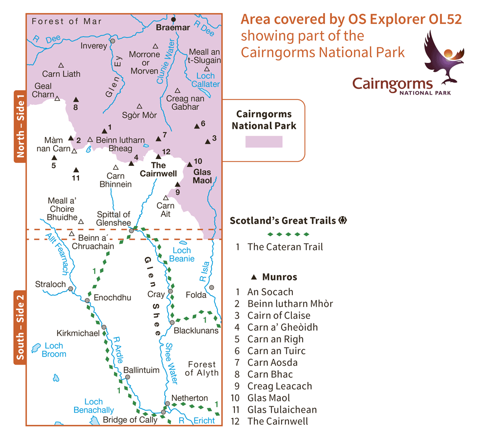 Ordnance Survey Explorer - OL 52 - Glen Shee and Braemar
