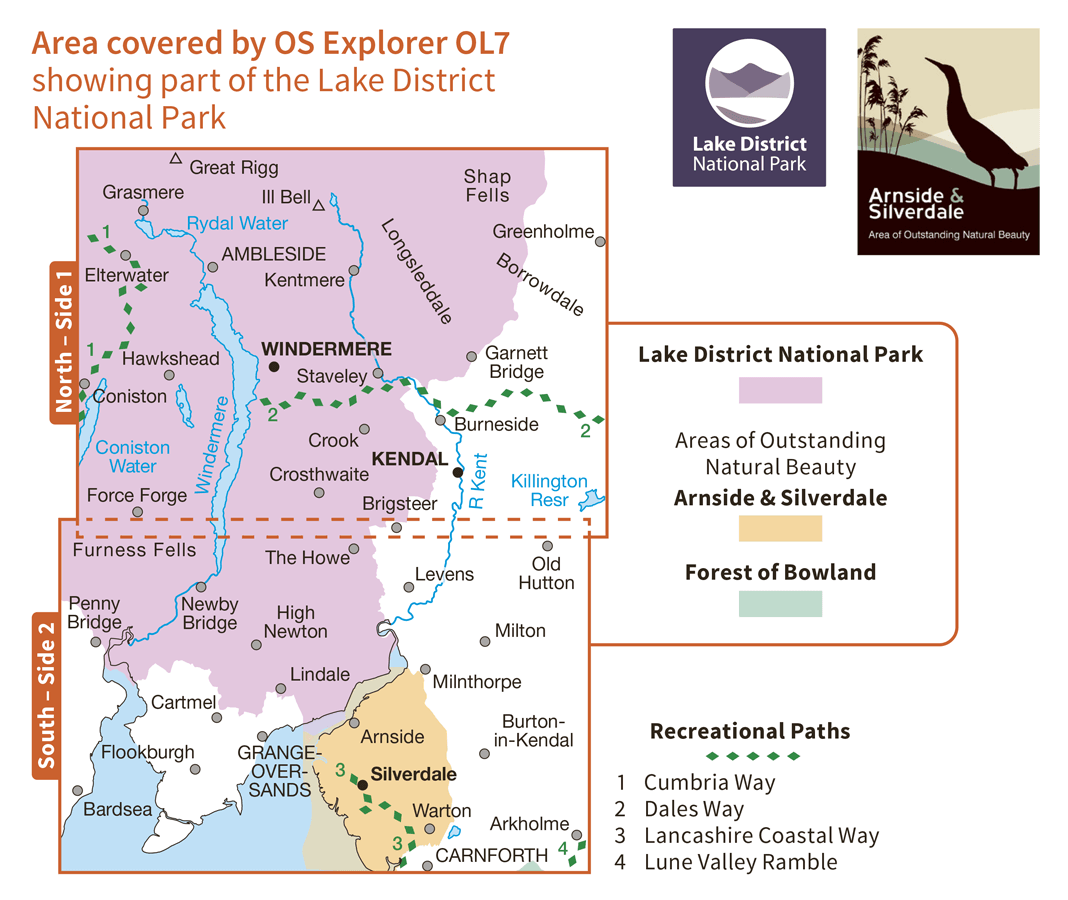 Ordnance Survey Explorer - OL 7 - English Lakes SE