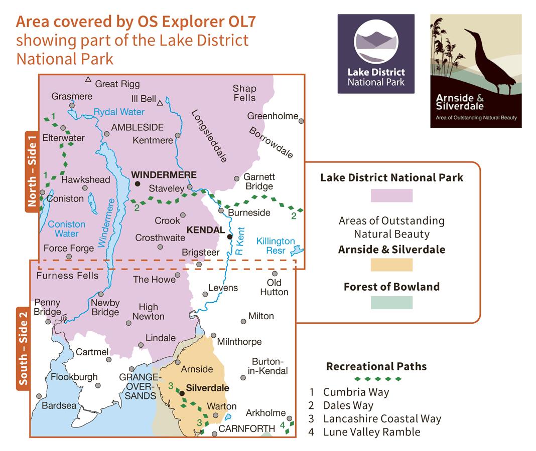 Ordnance Survey Explorer Active - OL 7 - English Lakes SE