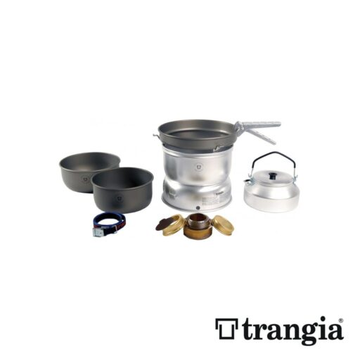 Trangia 25-8 Stove Hard Anodised pans with Kettle