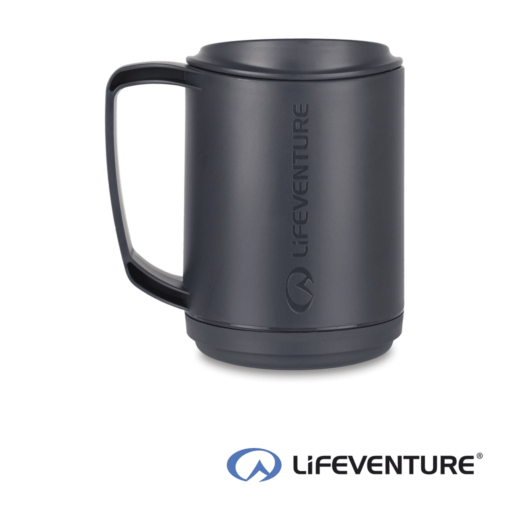 Lifeventure Ellipse Insulated Mug – Graphite