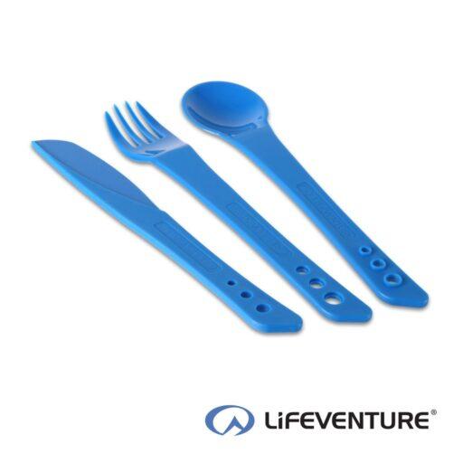 Lifeventure Ellipse Plastic Camping Cutlery – Blue