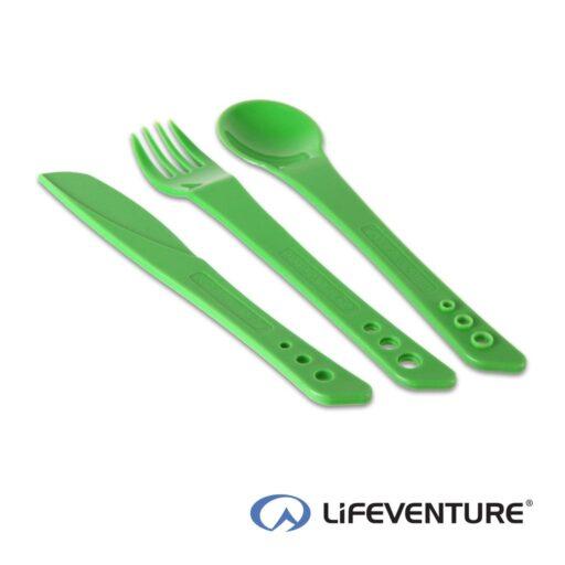 Lifeventure Ellipse Plastic Camping Cutlery – Green