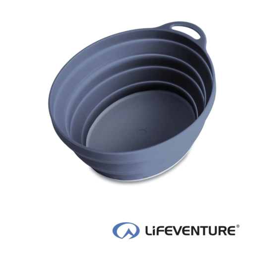 Lifeventure Ellipse Collapsible Bowl – Graphite