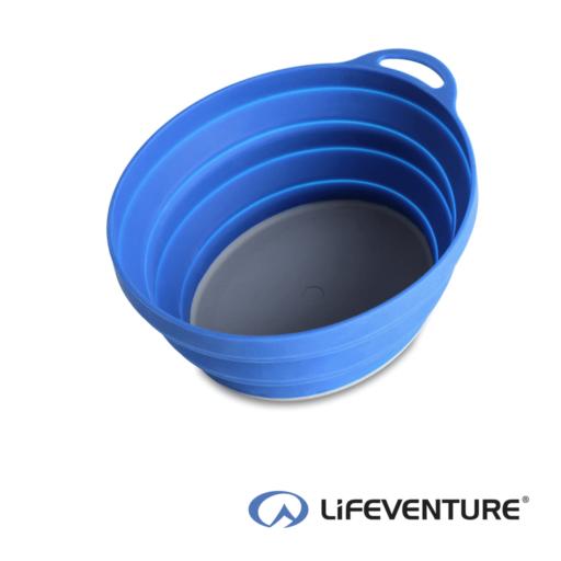 Lifeventure Ellipse Collapsible Bowl – Blue