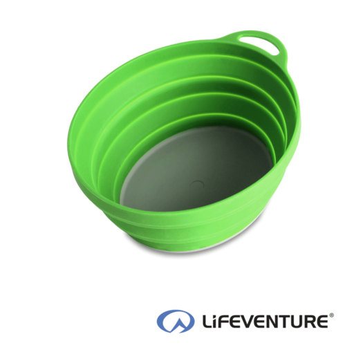 Lifeventure Ellipse Collapsible Bowl – Green