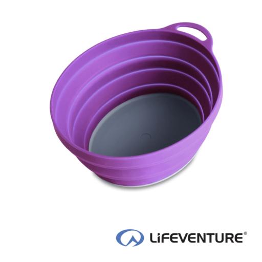 Lifeventure Ellipse Collapsible Bowl – Purple