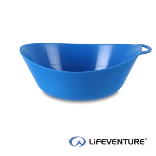 Lifeventure Ellipse Plastic Camping Bowl – Blue