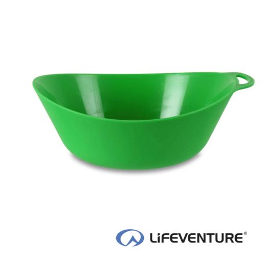 Lifeventure Ellipse Plastic Camping Bowl – Green
