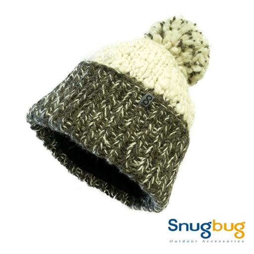 SnugBug Thick Pom Pom – White/Brown