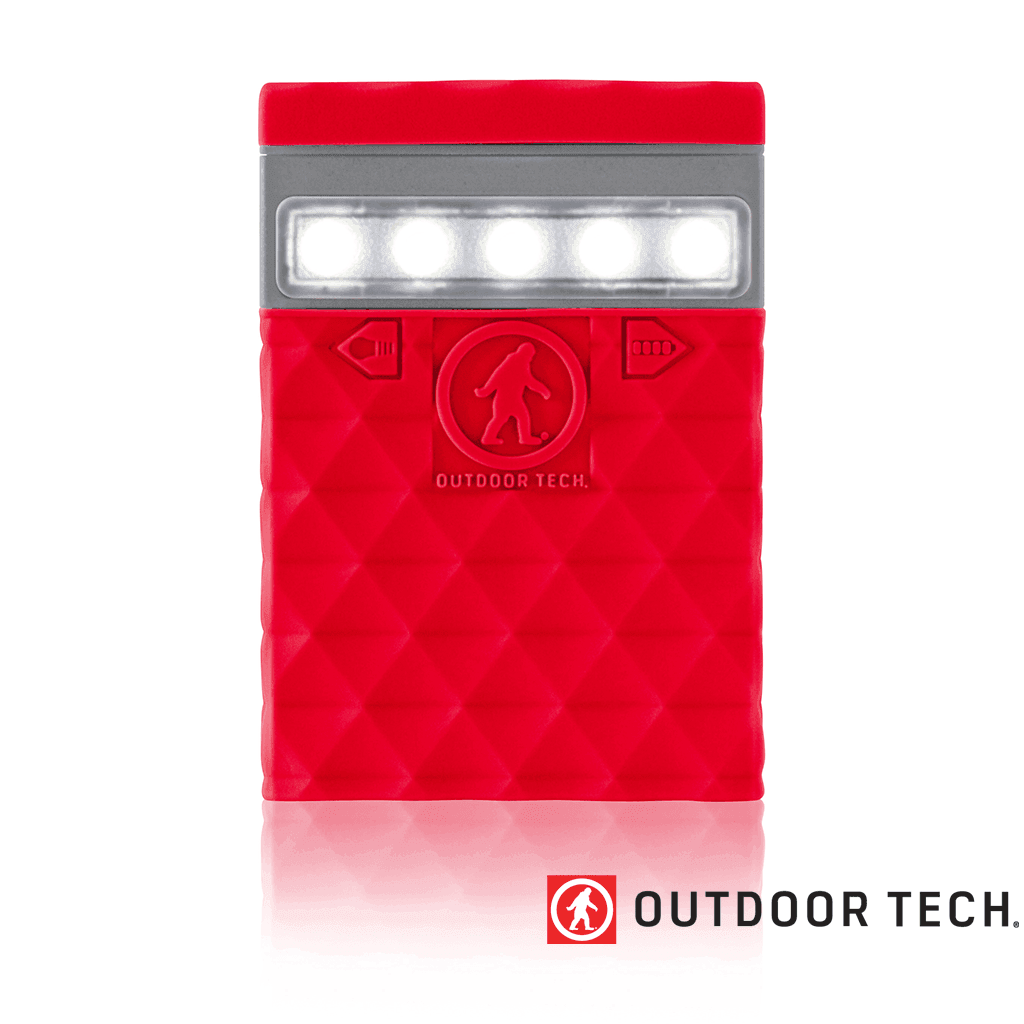 Outdoor Technology Kodiak 2.0 - Powerbank Rugged Outdoor Charger - 6 K - Red