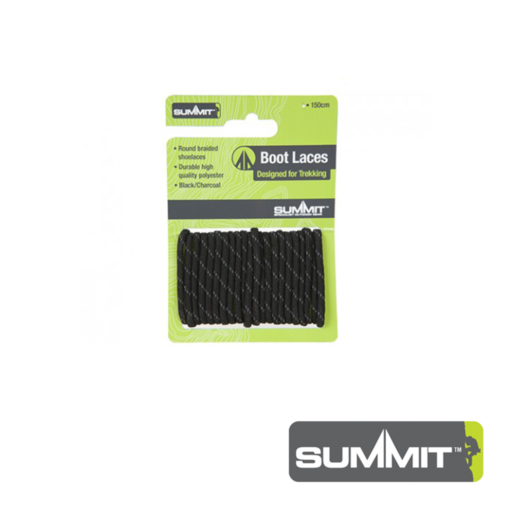 Summit Black Boot Laces – 120 CM