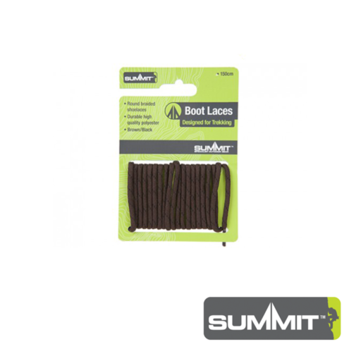Summit Brown Boot Laces – 120 CM