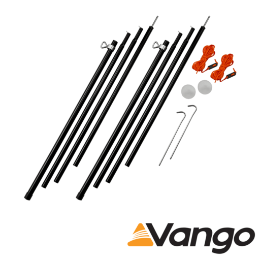 Vango Adjustable Steel King Poles – 180 – 220 cm