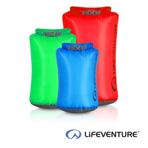 Lifeventure Ultralight Dry Bags Multipack – 5L – 10 L – 25 L