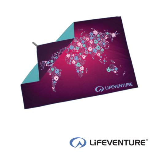 Lifeventure SoftFibre Flower Print Travel Towel – Giant