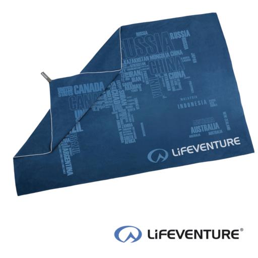 Lifeventure SoftFibre Printed Travel Towel – Giant – Blue