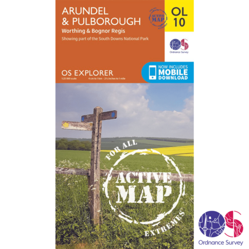 Ordnance Survey Explorer Active – OL 10 – Arundel and Pulborough