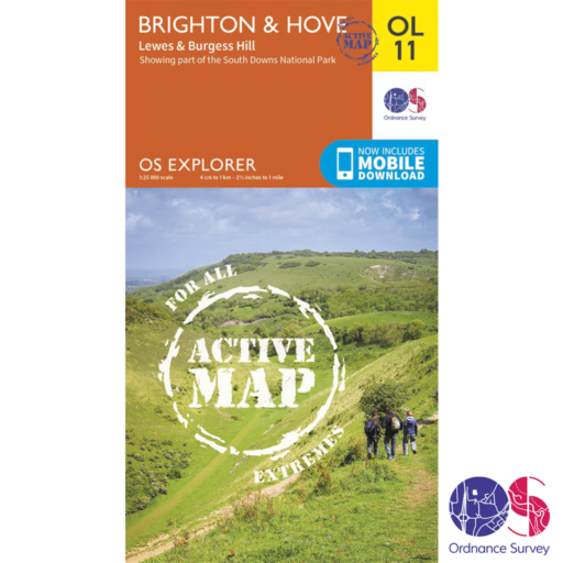 Ordnance Survey Explorer Active – OL 11 – Brighton and Hove