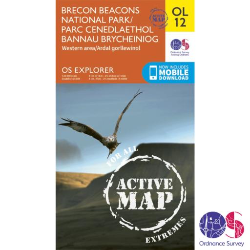 Ordnance Survey Explorer Active – OL 12 – Brecons West