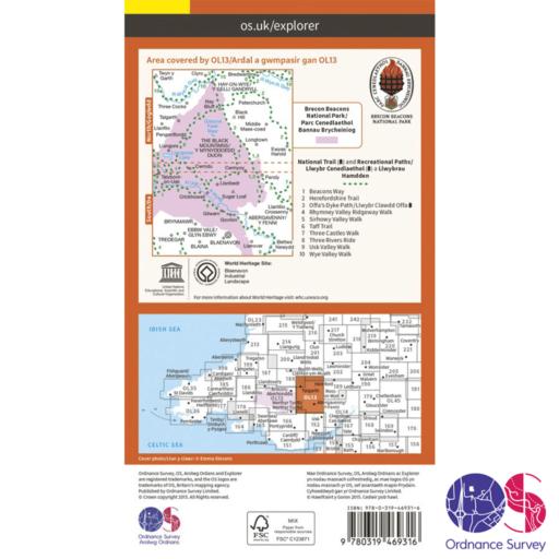 Ordnance Survey Explorer Active – OL 13 – Brecons East