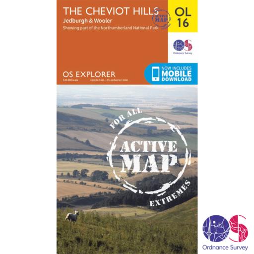 Ordnance Survey Explorer Active – OL 16 – Cheviot Hills