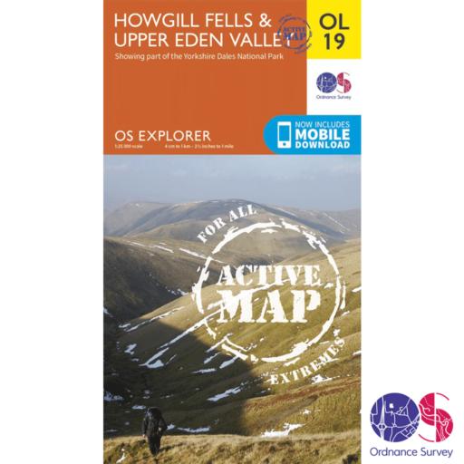 Ordnance Survey Explorer Active – OL 19 – Howgill Fells and Upper Eden Valley