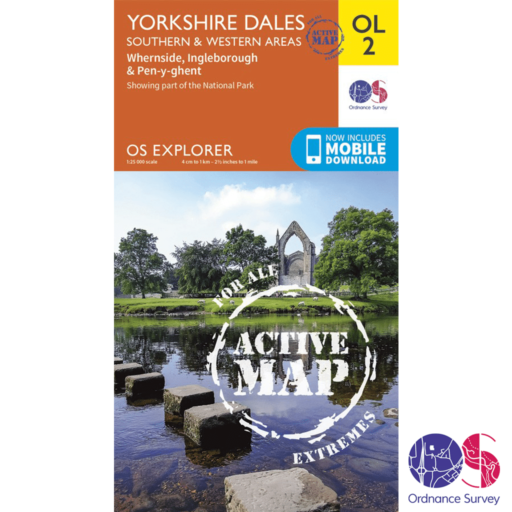 Ordnance Survey Explorer Active – OL 2 – Yorkshire Dales S and W
