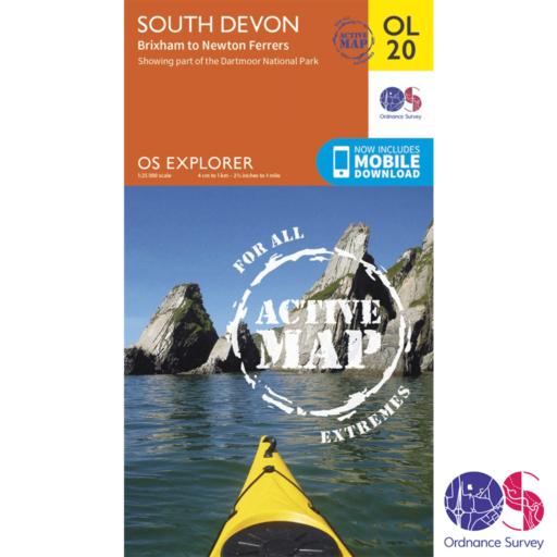 Ordnance Survey Explorer Active – OL 20 – South Devon