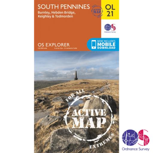 Ordnance Survey Explorer Active – OL 21 – South Pennines