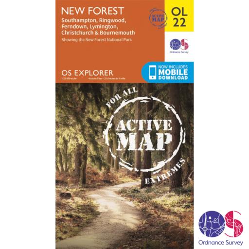 Ordnance Survey Explorer Active – OL 22 – New Forest