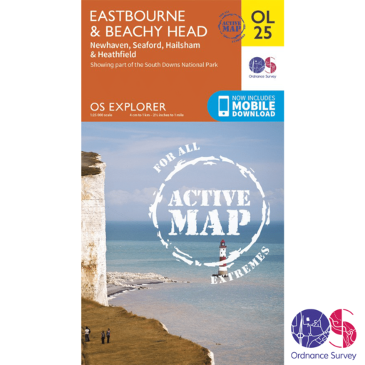 Ordnance Survey Explorer Active – OL 25 – Eastbourne and Beachy Head