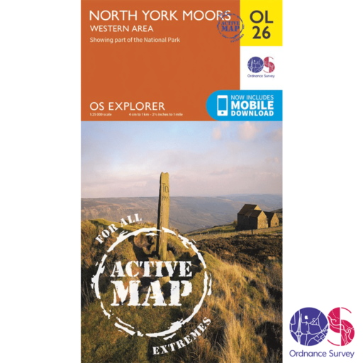 Ordnance Survey Explorer Active – OL 26 – North York Moors W
