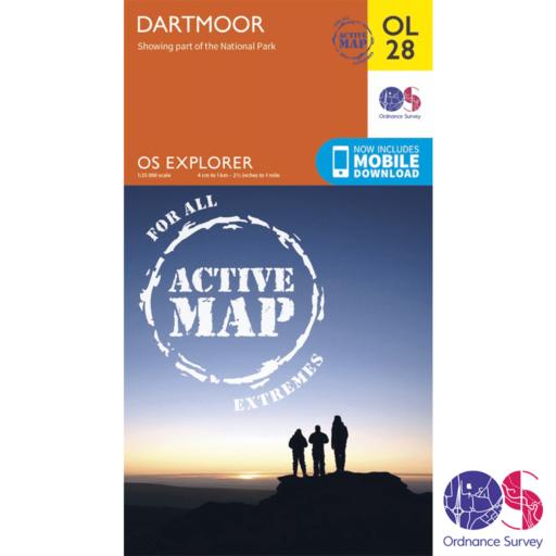 Ordnance Survey Explorer Active – OL 28 – Dartmoor