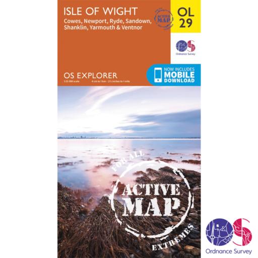 Ordnance Survey Explorer Active – OL 29 – Isle of Wight