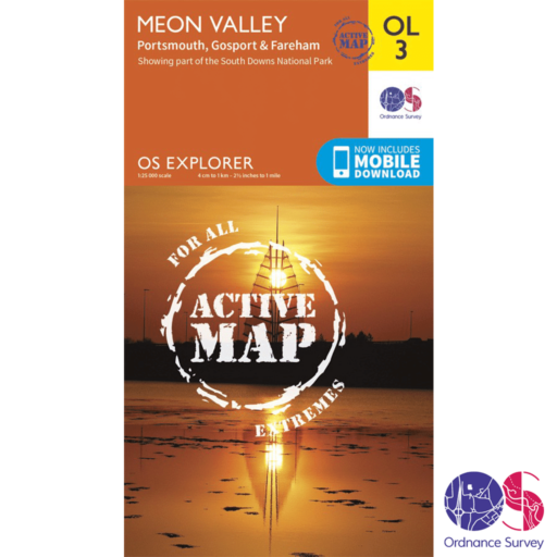 Ordnance Survey Explorer Active – OL 3 – Meon Valley