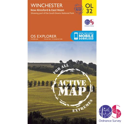 Ordnance Survey Explorer Active – OL 32 – Winchester