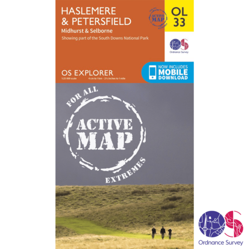 Ordnance Survey Explorer Active – OL 33 – Haslemere and Petersfield