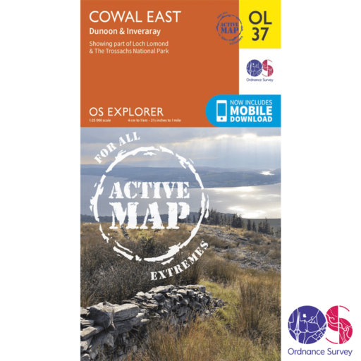 Ordnance Survey Explorer Active – OL 37 – Cowal East
