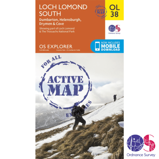 Ordnance Survey Explorer Active – OL 38 – Loch Lomond South