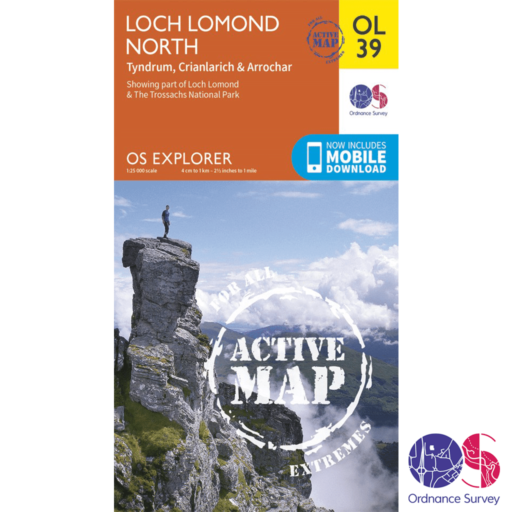 Ordnance Survey Explorer Active – OL 39 – Loch Lomond North