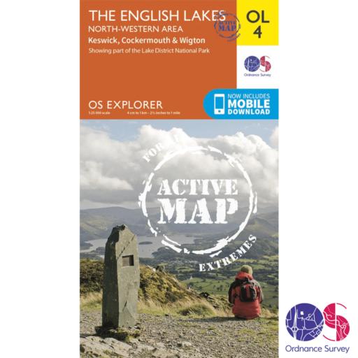 Ordnance Survey Explorer Active – OL 4 – English Lakes NW
