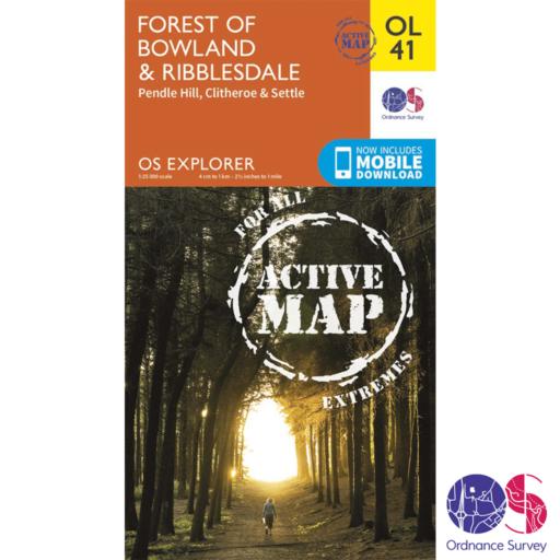 Ordnance Survey Explorer Active – OL 41 – Forest of Bowland