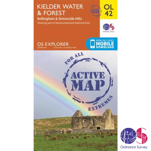 Ordnance Survey Explorer Active – OL 42 – Kielder Water and Forest